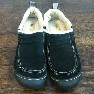 Jambu bar harbor black fleece lined slip on shoes